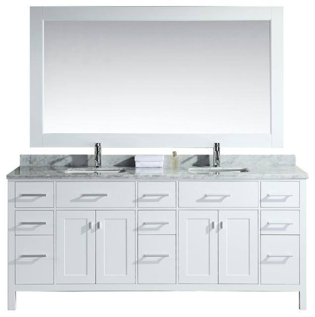 78 double sink vanity set in white modern bathroom vanities and sink