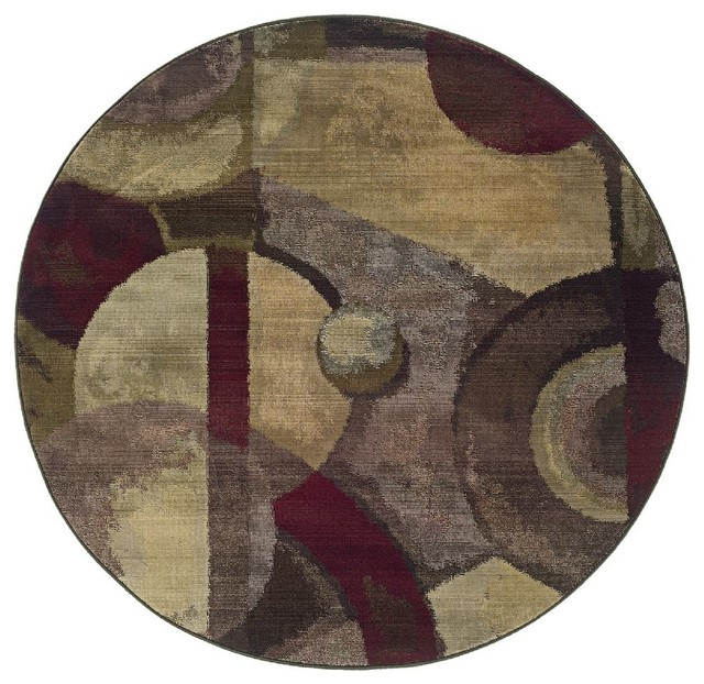 Round purple green area rug contemporary area rugs by rugpal