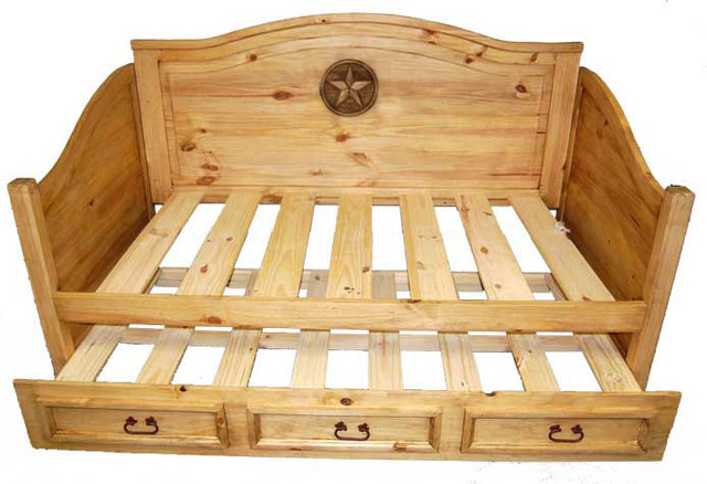 Trundle daybed with star detail american southwest day for Southwest beds