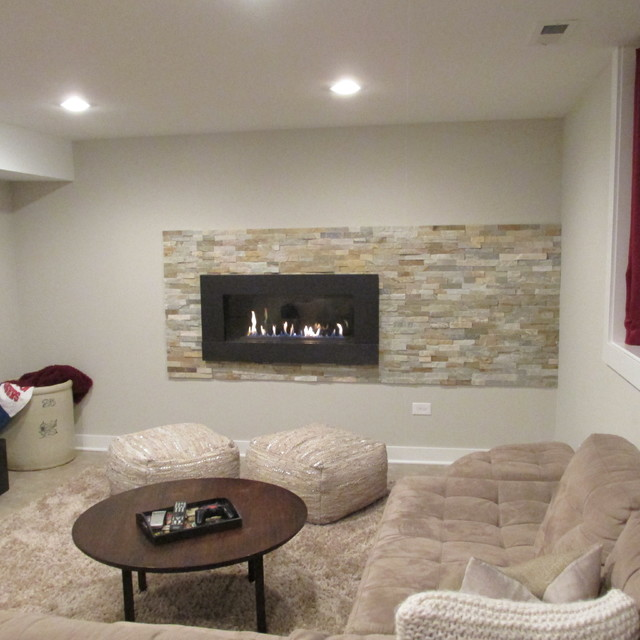 refinished basement cozy and contemporary entertainment space