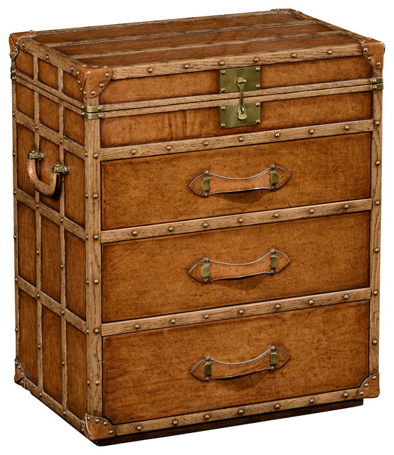 Jonathan charles steamer trunk jewellery box 494474 - Decorative trunks and boxes ...