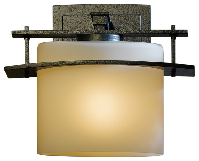 Hubbardton Forge 307521 1 Light Ellipse Small Outdoor Sconce Craftsman Outdoor Wall Lights