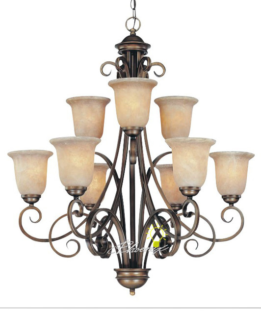 Modern Chandeliers Nyc: Marble & Iron Chandelier