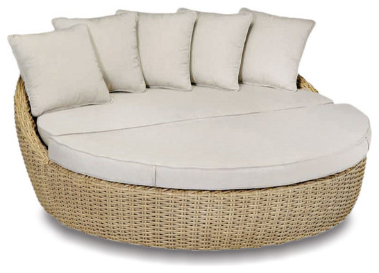 Talbot daybed sand in contemporary chaise longue for Chaise longue tours