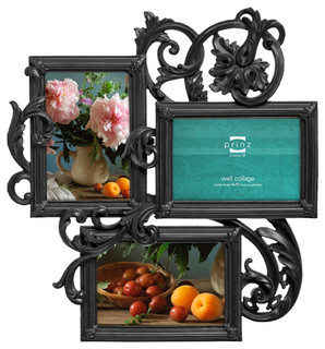 Decoro Antique Style 3 Picture Collage Frame 4x6 Black