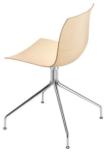 arper catifa 46 stuhl holz mit drehfu gestell. Black Bedroom Furniture Sets. Home Design Ideas