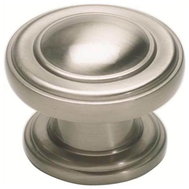 Atlas Homewares 313 Brn Bronte Round Door Knob Brushed Nickel Brushed Nickel Traditional