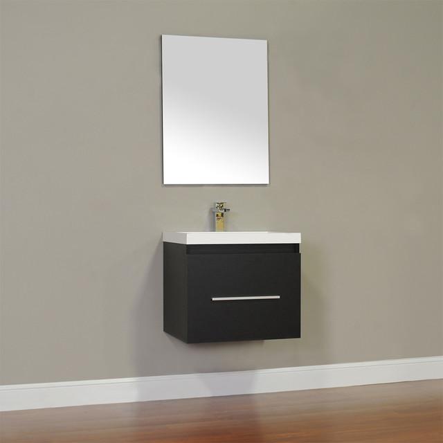Alya At 8006 24 Single Modern Bathroom Vanity Black Modern Bathroom Vanity Units Sink