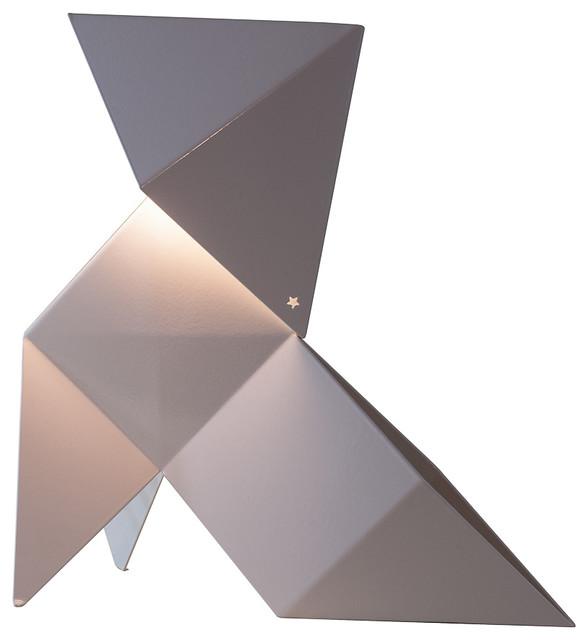 Cocotte origami fanette contemporain lampe de sol for Lampe exterieure contemporaine