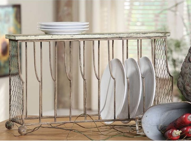 Vintage Iron & Wire Plate Holder - Rustic - Plate Stands And Hangers ...