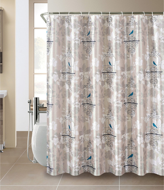 Bird Cage Shower Curtain And Hook Set Contemporary Shower Curtains By
