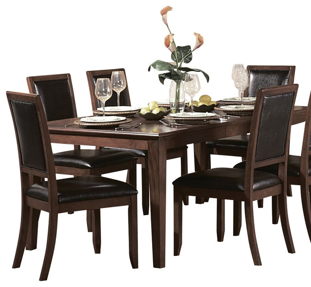 piece rectangular dining room set in cherry traditional dining sets