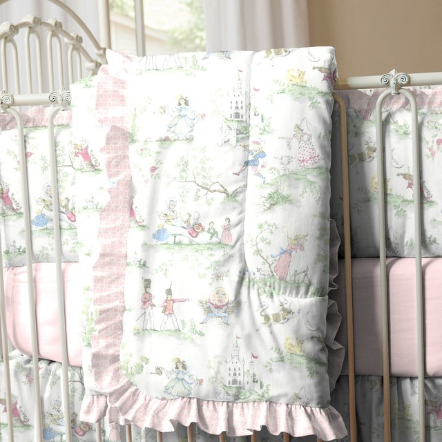 blue toile baby bedding 1