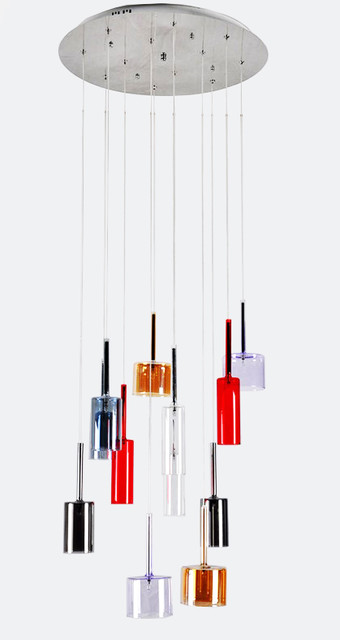 Modern Colorful Glass Chandelier - Contemporary ...