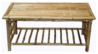 Bamboo54 5449 Coffee Table Natural Bamboo Tropical Coffee Tables