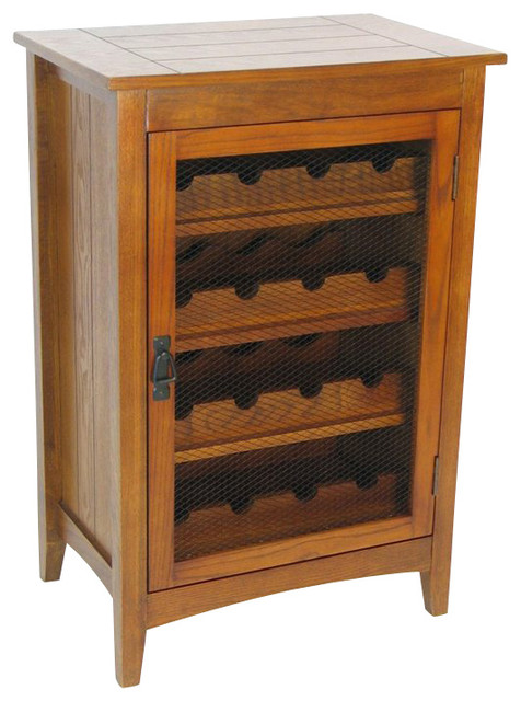 Wayborn Hugo Wine Cabinet in Oak - Transitional - Wine And Bar Cabinets - by Cymax