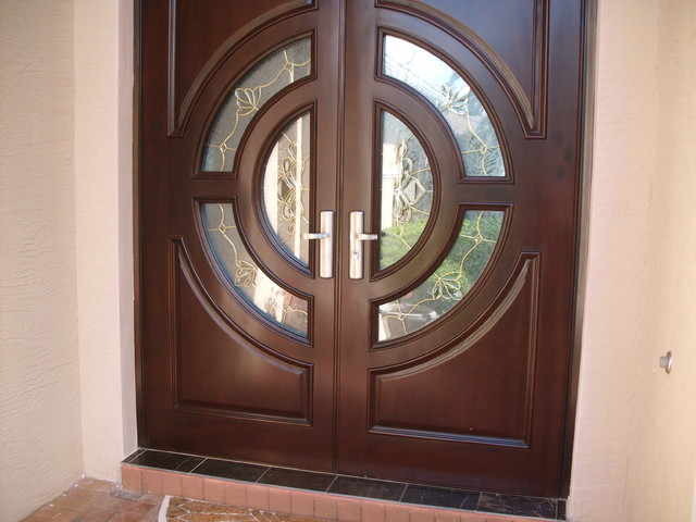 High impact door nas model sw052 contemporary front for Exterior doors miami