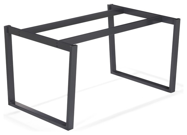 Vario moma pi tement en acier noir contemporain for Table design 4 pieds