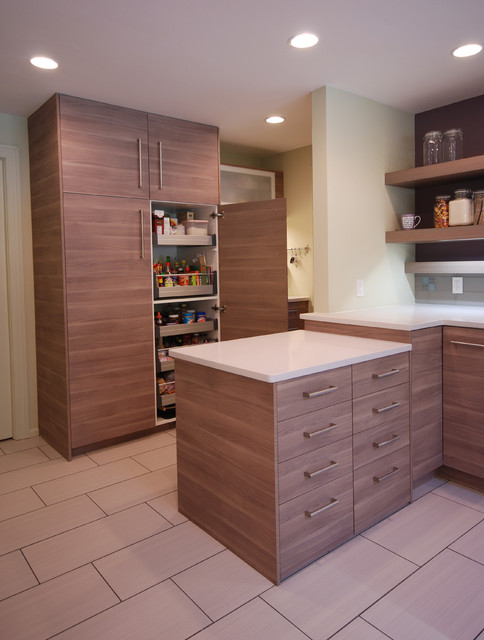 Ikea Pull Out Pantry With Peninsula Contemporary