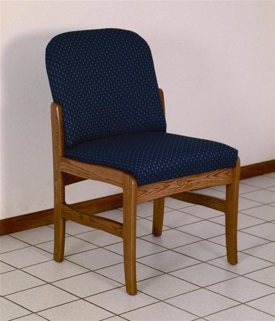 Armless wood chair arch slate contemporary office chairs by shopladder - Armless office chairs uk ...