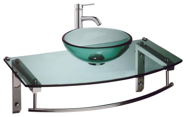 Glass Wall Mount Sink : Wall Mount Sinks Green Glass Wall Mount Sink 27 3/4