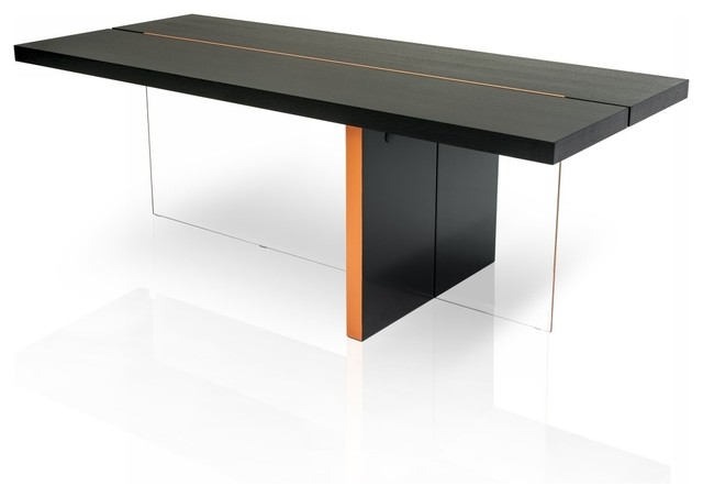 Vision Modern Black Oak Floating Dining Table Modern Dining Tables