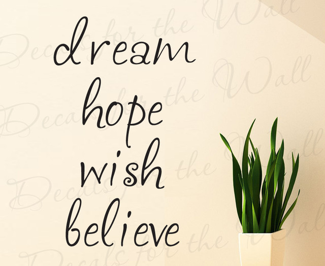 Wall Decal Sticker Quote Vinyl Art Lettering Large Dream ...