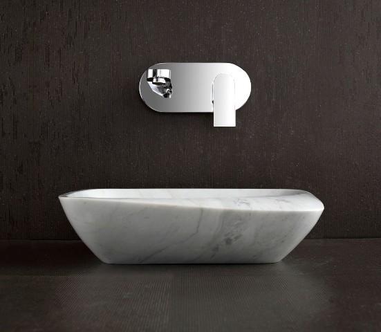 Marble Sink Basin : Maya - White Marble Basin Sink - Modern - Bathroom Basins - brisbane ...