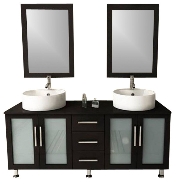 Modern Furniture Bathroom Vanity With Double Sink Contemporary Bathroom V