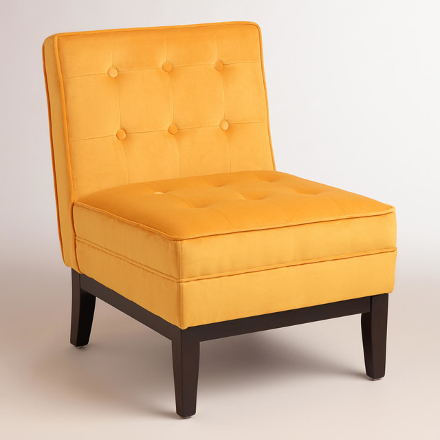 Mango yellow kaylor chair modern armchairs and accent chairs