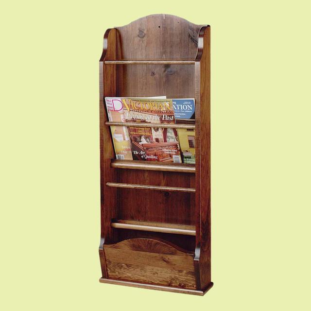 Magazine racks antique pine wall magazine rack 40 39 39 h for Houzz magazine