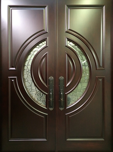 Mahogany exterior home front entry door 60 x 80 x 2 5 for Door design houzz