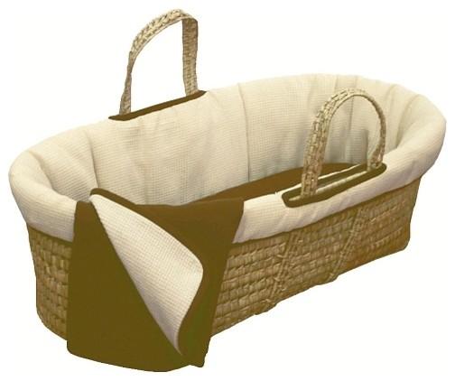 Tadpoles Moses Basket Organic Set - Cocoa - Modern - Baby ...