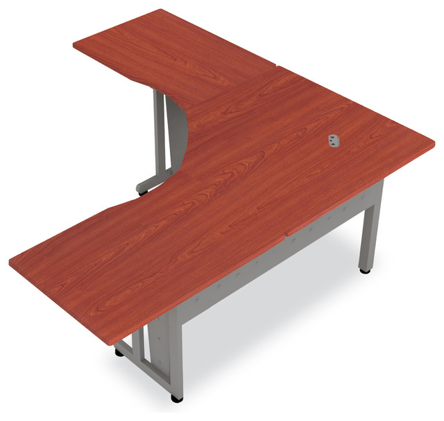 L Shaped Desk 60 Quot Cherry Contemporary Desks And