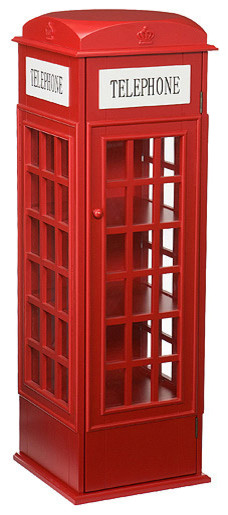 Temple Phone Booth Cabinet - Eclectic - Storage Cabinets - by Walmart