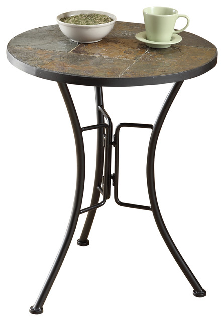 Slate Round Top Coffee Table Traditional Coffee Tables By 4d Concepts