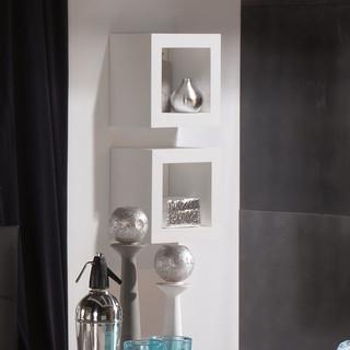 Lay cubo colgante 40x40 blanco moderno estanter as de pared de banak importa - Banak importa recibidores ...