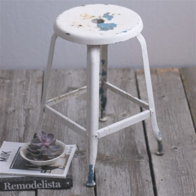 Cast Metal Stool Farmhouse Bar Stools And Counter