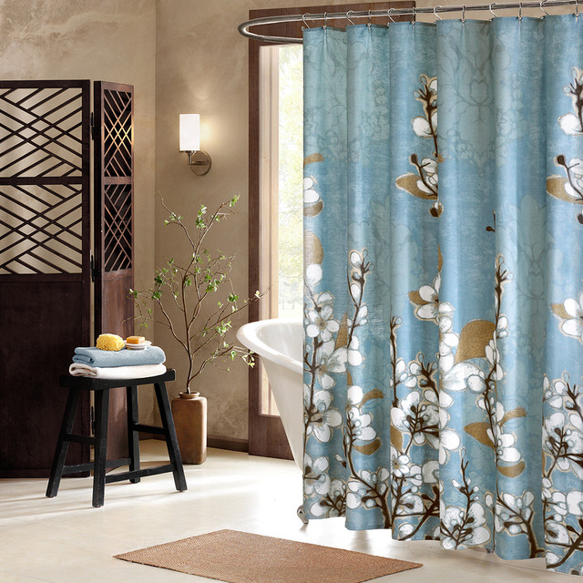 Artology Sakura Cotton Shower Curtain Contemporary Shower Curtains By