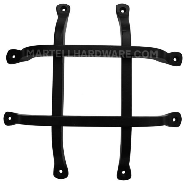 Agave Ironworks Gr009 01 Wrought Iron Door Speakeasy Grille Square Bar Flat Rustic Door