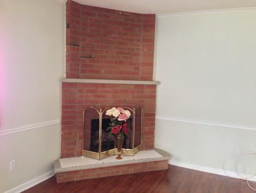 Need Help On Updating A Brick Layered Corner Fireplace