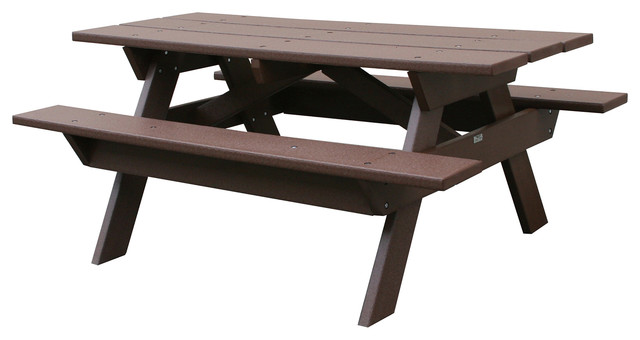greenwood 6 ft picnic table brown outdoor dining tables