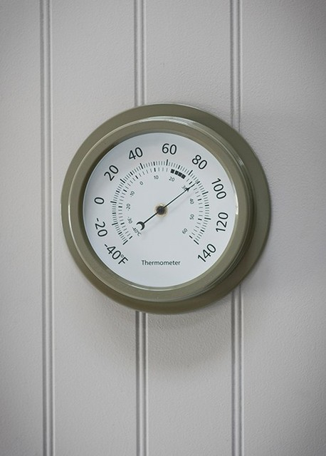 8 inch classic thermometer in gooseberry modern decorative thermometers by garden trading. Black Bedroom Furniture Sets. Home Design Ideas