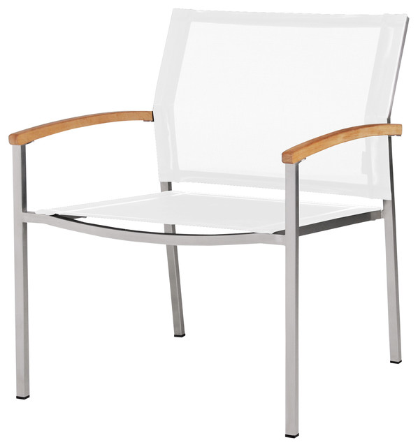 Zix Stacking Chair White Casual Chair Contemporary Outdoor Dining Chair