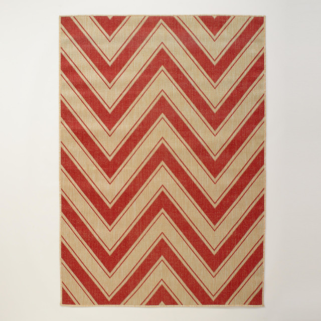 Red Chevron Indoor Outdoor Rug Modern Outdoor Rugs