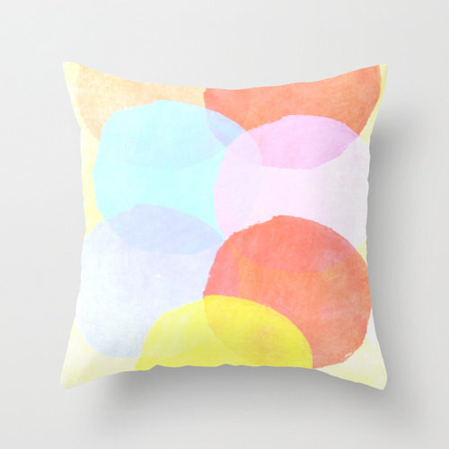Watercolor Circles Pillow Cover by Twiggs DesignsContemporary