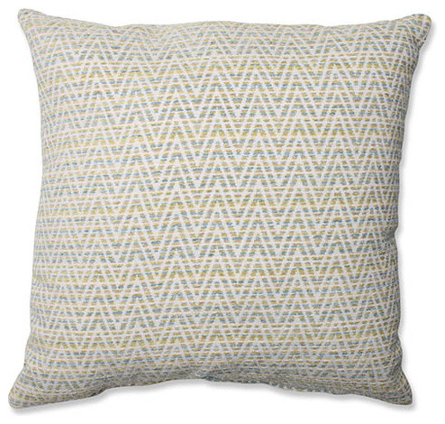 Hyperlink Mojito Blue 18-Inch Square Throw Pillow eclectic-bed-pillows