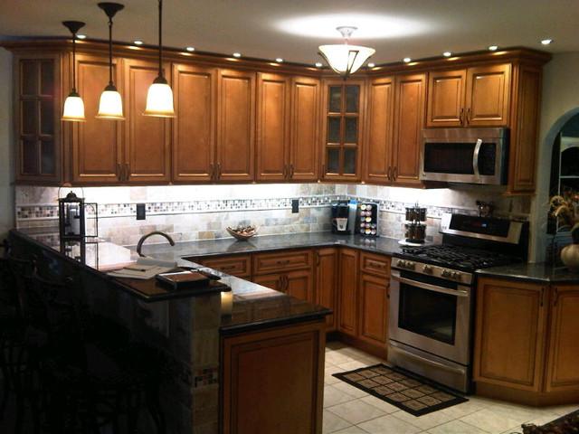 Light Brown Kitchen Cabinets | Sandstone Rope Door ...