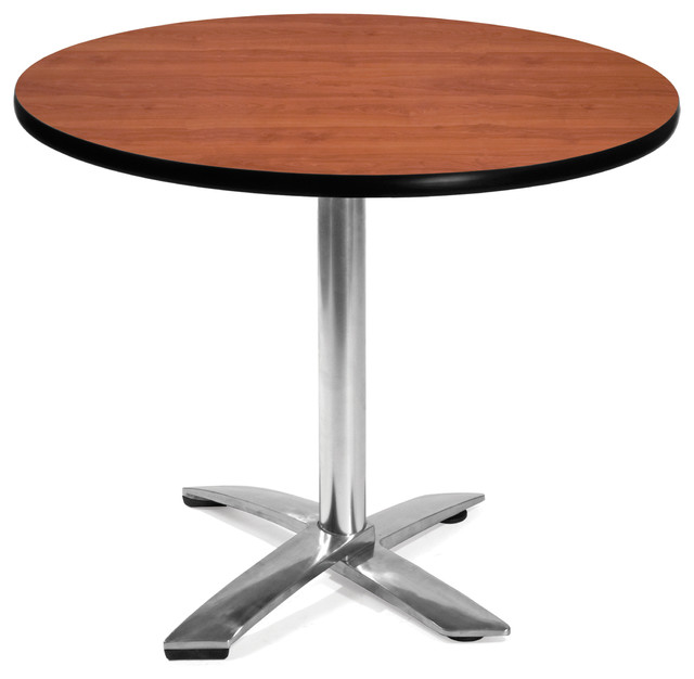Flip Top Round Table 36 Cherry Craftsman Dining Tables By OFM