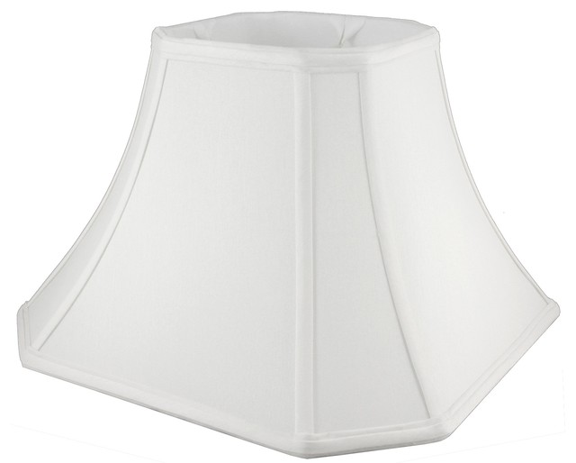 square bell shaped white lampshade 8x5x6 5 traditional lamp shades. Black Bedroom Furniture Sets. Home Design Ideas